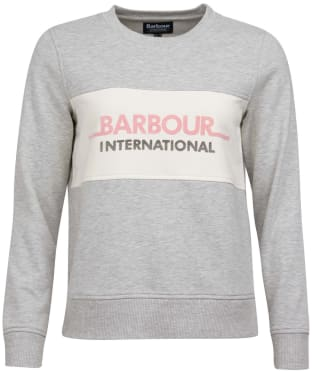 Barbour International Shuttle Overlayer - Pale Grey Marl