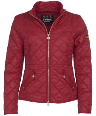 Women's Barbour International Delaware Quilted Jacket - Rhubarb