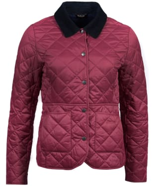 Women's Barbour Deveron Quilted Jacket - Rouge