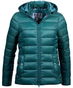 Women's Barbour Landmass Quilted Jacket - Turtle Green