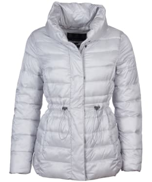 Women's Barbour Reid Quilted Jacket - Ice White