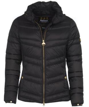 Women's Barbour International Rally Quilt Jacket - Black