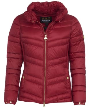 Women's Barbour International Rally Quilt Jacket - Rhubarb