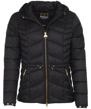 Women's Barbour International Ace Quilt Jacket - Black