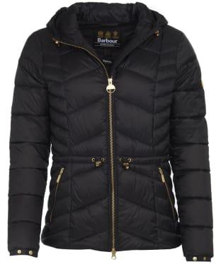 Women's Barbour International Ace Quilt Jacket - Black