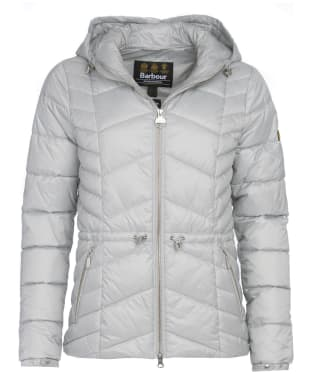 Women's Barbour International Ace Quilt Jacket - Ice White