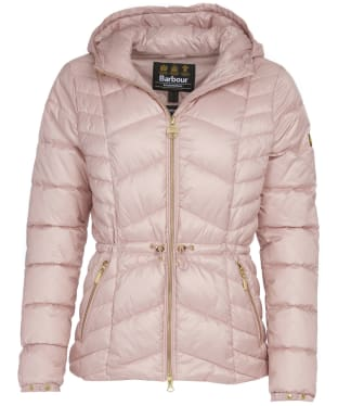 Women's Barbour International Ace Quilt Jacket - Blusher