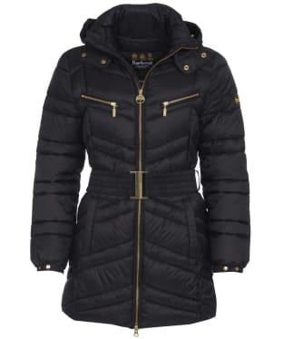 Women's Barbour International Cross Quilt Jacket - Black