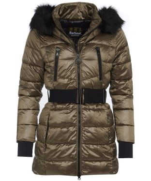 Women's Barbour International Arena Quilted Jacket - Bronze
