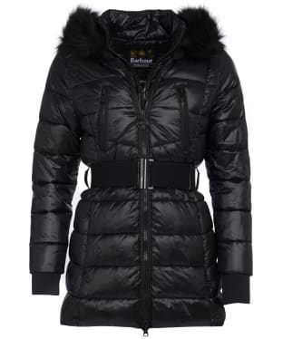 Women's Barbour International Arena Quilted Jacket - Black