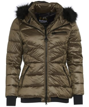Women's Barbour International Strike Quilted Jacket - Bronze