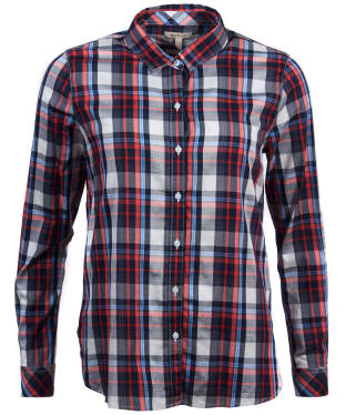 Women's Barbour Cheviot Shirt - Coral Check