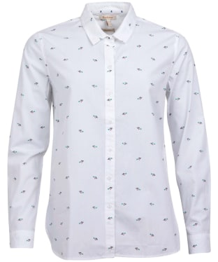 Women's Barbour Shoreward Shirt - White Print