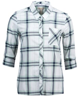 Women's Barbour Shoreside Shirt - Turtle Green Check