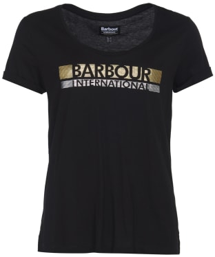 Women's Barbour International Baseline Tee - Black