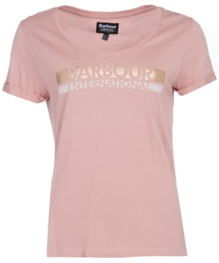 Women's Barbour International Baseline Tee - Blusher