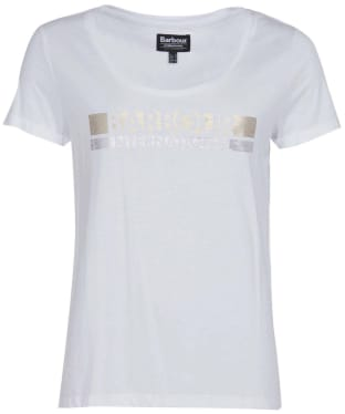 Women's Barbour International Baseline Tee - White