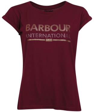 Women's Barbour International Strike Tee - Dark Rhubarb