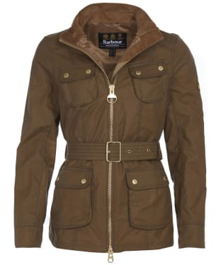 Women's Barbour International Guard Wax Jacket - Sand