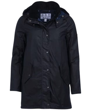 Women's Barbour Oceanfront Waxed Jacket - Royal Navy