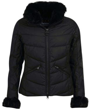 Women's Barbour International Baseline Wax Jacket - Black