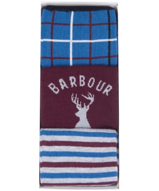 Men's Barbour Stag Stripe Sock Set