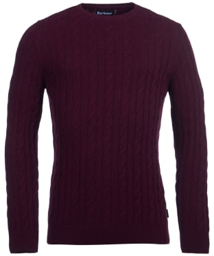 Men's Barbour Sanda Crew Knit - Wine