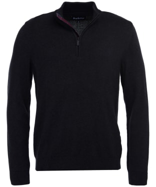 Men's Barbour Avoch Half Zip Sweater - Charcoal Marl