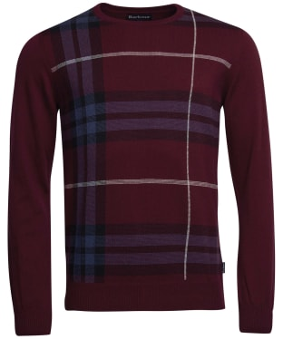Men's Barbour Elgin Jacquard Crew Sweater - Merlot