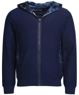 Men's Barbour Baltic Zip Thru Hoody - Mid Blue