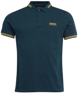 Men's Barbour International Essential Tipped Polo Shirt - Benzine