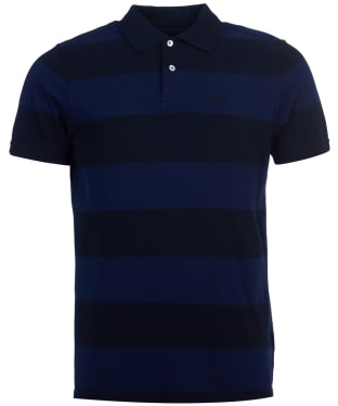 Men's Barbour Harren Stripe Polo Shirt - Monaco Blue