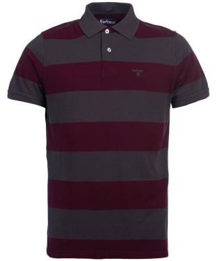 Men's Barbour Harren Stripe Polo Shirt - Merlot