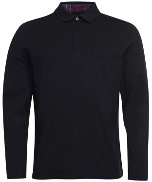 Men's Barbour Dunnet Long-Sleeved Polo Shirt - Black