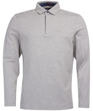 Men's Barbour Dunnet Long-Sleeved Polo Shirt - Grey Marl