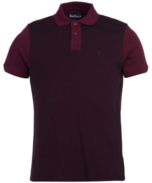 Men's Barbour Bonar Polo Shirt - Merlot