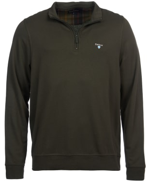 Men's Barbour Batten Half Zip Sweater - Olive