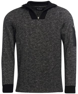 Men's Barbour International Balance Half Zip Sweater - Black