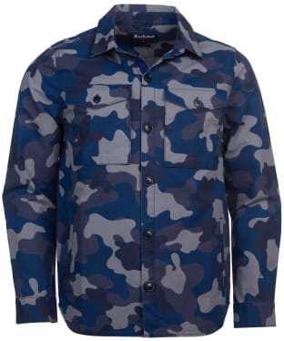 Men's Barbour Ocean Camo Overshirt - Navy Camo