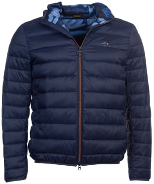 Men's Barbour Harg Quilted Jacket - Navy