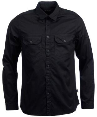 Men's Barbour International Worker Twill Shirt - Black