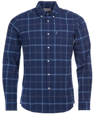 Men's Barbour Tattersall 13 Tailored Shirt - Indigo