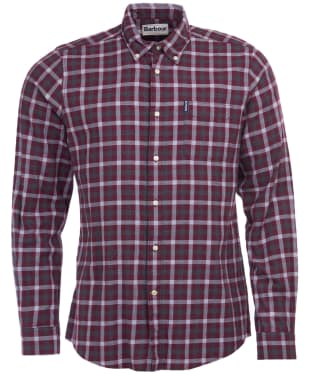 Men's Barbour Gingham 16 Tailored Shirt - Merlot