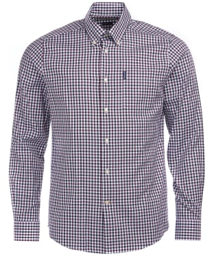Men's Barbour Gingham 15 Tailored Shirt - Merlot