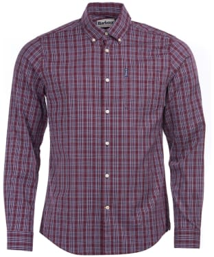 Men's Barbour Highland Check 23 Tailored Shirt - Merlot Check