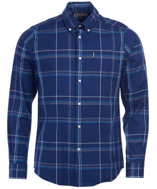 Men's Barbour Highland Check 24 Tailored Shirt - Indigo Check