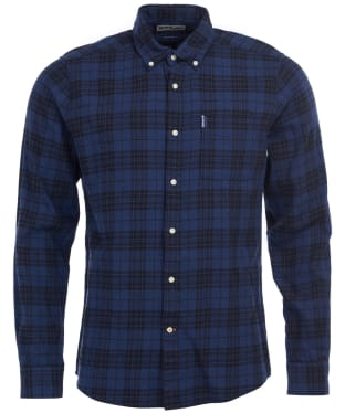 Men's Barbour Country Check 7 Tailored Shirt - Indigo