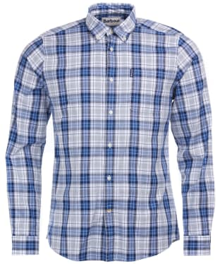 Men's Barbour Highland Check 25 Tailored Shirt - Blue Check