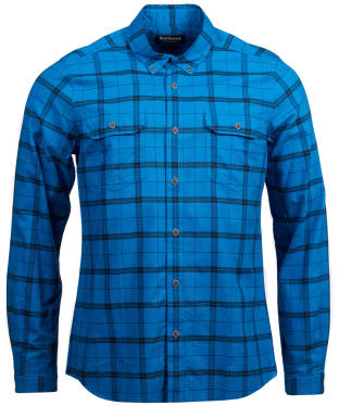 Men's Barbour International Grid Check Shirt - Aqua Check