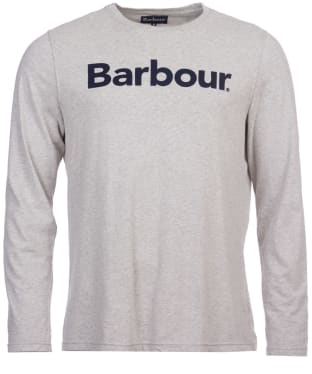 Men's Barbour Roanoake Long Sleeve Tee - Grey Marl
